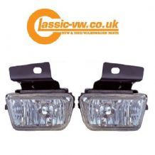 Mk2 Golf Crystal Fog Light Set With Brackets (Big Bumper)